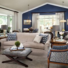 Decorating A Navy Blue Couch Design, Pictures, Remodel, Decor and Ideas - page 3