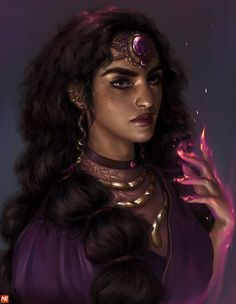 Wanted to do a portrait of Surpanakha, one of my favorite witches.