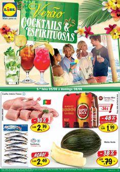Promoções do Lidl de 05 a 11 Junho com destaque para as bebidas de verão cocktails e espirituosas