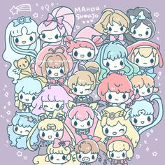 """japanloverme: """" Who's your favorite Mahou Shoujo/ Magical Girl? :3 ♥ """" Magical Girl Powaaa! ☆*・゜゚・*\(^O^)/*・゜゚・*☆ Drawing done by me for Japan Lover Me! I enjoyed drawing this soooo much~~~ //nostalgic tears everywhere huhu// ♥ My faves are..."""
