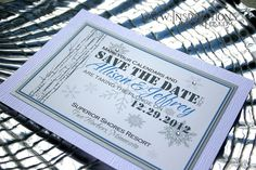 Winter Wedding Save The Date Invitations by InspirationsbyAmieLe