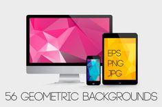 56 Geometric backgrounds-1 by Katyau on @creativemarket