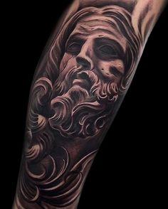 Virgen Mary Tattoo, Jesus Tattoo, Tattoo Shop, Life Tattoos, Ink Art, Tattoo Studio, Sleeve Tattoos, Statue, Artist