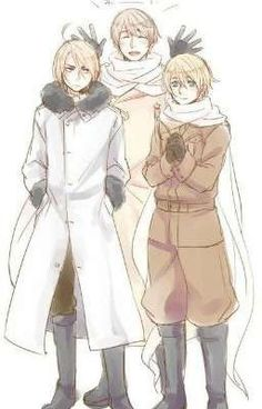 Hetalia: Russia with Male!Belarus and Male! Belarus has a cowlick [don't even know what its called] like America. Ukraine Hetalia, Belarus Hetalia, Latin Hetalia, Russia Ukraine, Cowlick, Hetaoni, Animes On, Hetalia Fanart, Hetalia Axis Powers