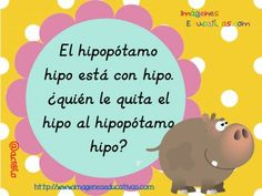 Learn Spanish animals with tongue twisters. Trabalenguas de animales (2)