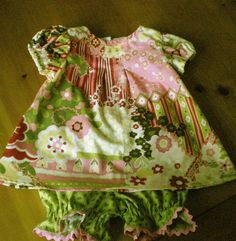 Groovy Infant Dress and Diaper Cover.