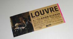 ルーヴル美術館展 TICKET Ticket Design, Name Cards, Identity, Coupon, Editorial, Louvre, Banner, Layout, Graphics