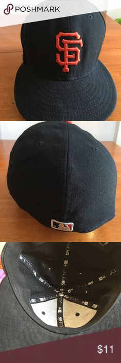 San Francisco Giants cap Official on field cap 59fifty used condition NEW ERA Accessories Hats