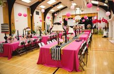 Pink reception, black and gold, reception decor, creative reception decorations, RaeTay Photography Quinceanera Decorations, Gold Party Decorations, Party Centerpieces, Birthday Party Decorations, Paris Birthday Parties, 60th Birthday Party, Pink Parties, 30th Party, Kate Spade Party