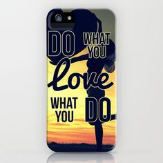 Do What You Love, Love What You Do iPhone & iPod Case by Miguel Angel - $35.00