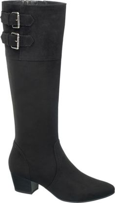 Damen Stiefel von Graceland in schwarz - deichmann.com Graceland, Knee Boots, Wedges, Shoes, Fashion, Heeled Boots, Moda, Zapatos, Shoes Outlet