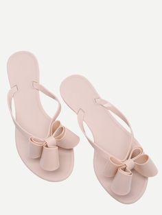 Shop Pink Bow Detail Flip Flops online. SheIn offers Pink Bow Detail Flip Flops & more to fit your fashionable needs.