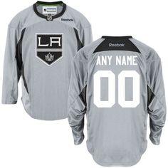 Reebok Los Angeles Kings Men's Practice Team Custom Jersey - Gray - $149.99