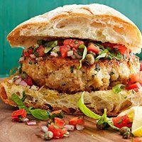 Sicilian-Style Tuna or Swordfish Burgers