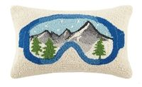 Ski Goggles  9x18 Wool Ski Pillow