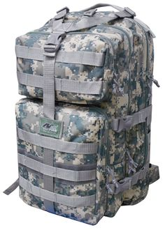 """21"""" 3400 cu.in. Tactical Hunting Camping Hiking Backpack ML121 DM DIGITAL CAMOUFLAGE. Tactically compact for outdoor use!. Digital Camouflage (DM), Well padded back & strong shoulder strap. Capacity: 3400 cu. in. Size: 21""""(Height) x 13""""(Width) x 12.5""""(Depth). 3 built compartments, Multiple MOLLE style straps and compression straps."""