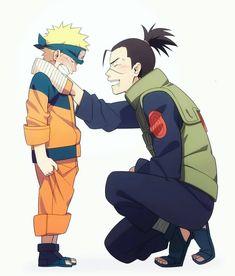 Naruto and Iruka-Sensei Naruto Uzumaki Shippuden, Naruto And Sasuke, Boruto, Naruto Fan Art, Naruto Anime, Naruto Comic, Naruto Cute, Madara Uchiha, Manga Anime