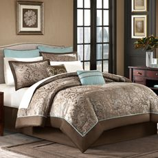 "I love this set!!  Would match beautifully with the ""faux sheers"" I want to surround my bed with!! Brystol 12-Piece Comforter Set"