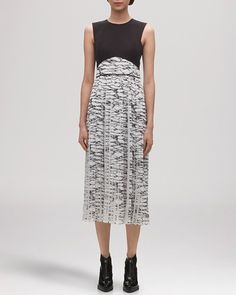 Pin for Later: These 35 Dresses Prove That Modest Doesn't Mean Boring  Whistles marble print pleated midi (£384)