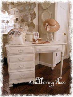 A sweet vintage desk...