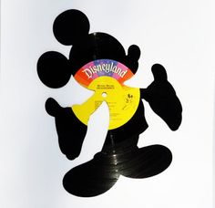 MICKEY MOUSE vinyl record silhouette DISNEY standing by sillyette