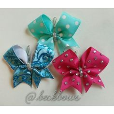 Cheer Bow Keychains by beckbows on Etsy, $5.75