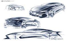 2018 Hyundai LaFesta official sketches by Jo Beomsoo Car Design Sketch, Car Sketch, Sketch Pad, Industrial Design Portfolio, Normal Cars, Line Sketch, Automobile, Sketch Markers, Car Drawings