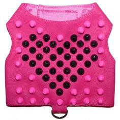 4ddb3c4131 Pink Love Stud Faux Leather Dog Harness Vest