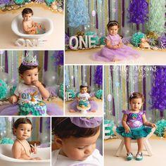 54 New Ideas Baby Girl Cake Smash Purple Smash Cake Girl, Baby Girl Cakes, Birthday Cake Smash, Cake Baby, Birthday Girl Pictures, Baby Boy Pictures, Little Mermaid Birthday, Girl First Birthday, Baby Girl Crochet