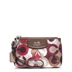 coach madison graphic op art wristlet