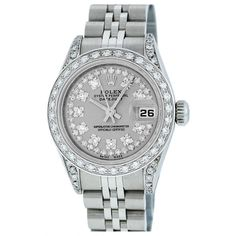 Pre-owned Rolex Datejust Watch ($4,735) ❤ liked on Polyvore featuring jewelry, watches, grey, preowned jewelry, grey watches, pre owned jewelry, rolex jewelry and rolex wrist watch