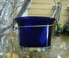 """Cobalt Blue Votive Candle Holder. 3.75"""" $1.30 each"""