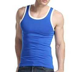Xudian Men Tank Top Stretchy Athletic Sleeveless Shirt Crewneck ** For more information, visit image link.