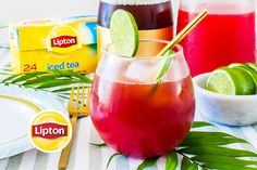 Fresh Watermelon Iced Tea recipe: This sponsored recipe is brought to you by Unilever, whose Agents of Change Program celebrates the innovative registered dietitians working to create a healthier, more sustainable future — through food that tastes good, does good and doesn't cost the earth. Watermelon Ice Tea Recipe, Iced Tea Recipes, Stone Soup, Registered Dietitian, Non Alcoholic, Eat Right, Beverages, Drinks, Tea Pots