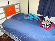 Body Pillow Bed Rail - use pillows instead of buying costly bed rails for your kids!