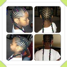 Braided hairstyles for little girls Cornrow Updo Hairstyles, Lil Girl Hairstyles, Natural Hairstyles For Kids, Kids Braided Hairstyles, Princess Hairstyles, My Hairstyle, Hairstyles For School, Natural Hair Styles, Children Hairstyles