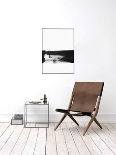 Minimal Abstract Painting Giclee Poster Print by HAUSOFPROSE