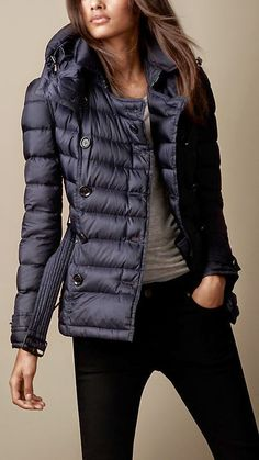 See more Burberry Brit Short Down Filled Winter Jacket