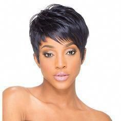 Name: SKY Synthetic Wig Sky 010 - Final Sale Type: Synthetic Wig Features: Yaki Texture Breathable Thinnest Weft Curling Iron Safe Edgy Haircuts, Great Haircuts, Short Pixie Haircuts, Pixie Hairstyles, Short Hair Cuts, Straight Hairstyles, Short Hair Styles, Current Hair Trends, Haircut For Older Women