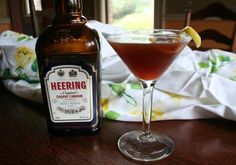 The Gilroy Cocktail - something perfect to serve for the holidays. Includes the ruby-red Cherry Heering liqueur.