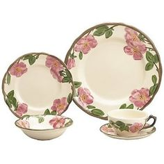 Franciscan 'Desert Rose' dinnerware.  I got my mother-in-laws when she died. I'll cherish them.
