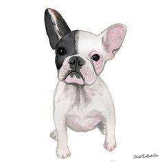 Cutest frenchie ever! Ink illustrations. belindaxiaillustration.com