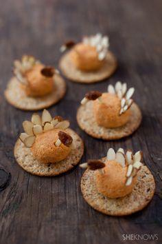 Adorable and edible mini turkey cheese balls