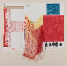 AIRPORT (Switchboard), 1974 Rilievo e intaglio su tessuto con aggiunta matita elettromagnetica applicati su tela, 102 x 104 cm.