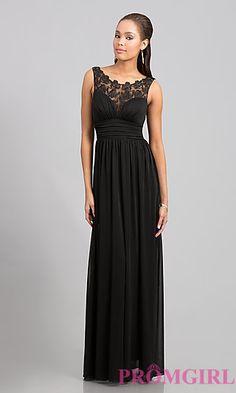 Floor Length Sleeveless Dress at PromGirl.com