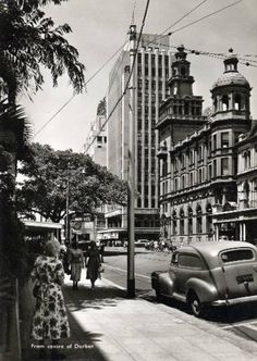 Durban South Africa, World Street, Kwazulu Natal, African History, Old Pictures, Historical Photos, East Coast, Picture Photo, Street View