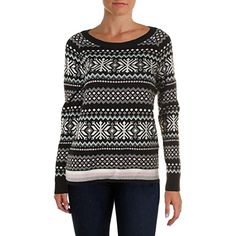 Tommy Hilfiger Womens Printed Metallic Pullover Sweater Black XL ** Check out this great product.