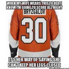 Keep your legs closed ladies. Hockey Memes, Hockey Baby, Photography Words, Nhl, Legs, Funny, How To Wear, Fashion, Moda