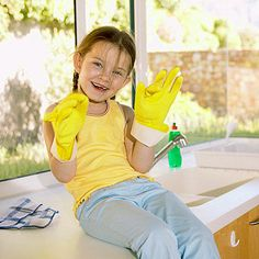 "Kids 5 and 6 years old love to role-play, so try encouraging them to start ""Cara's Cleaning Company"" or ""Henry's Helping Hands."" Outfit them for the role with a hat, apron, and child-size rubber gloves. You get to play the part of the appreciative customer."