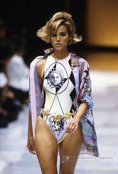 Versace Spring/Summer 1992 Model Christy Turlington